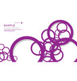 simple circles background with color purple and vector image