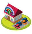small cabin with carpark vector image vector image