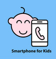 smartphone for kids vector image
