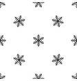 snowflake pattern seamless black vector image vector image