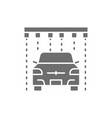 soap rain in portal carwash grey icon vector image vector image
