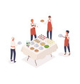 social event preparation isometric vector image