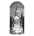 statue of oliver hazard perry was located in vector image vector image