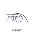 subway line icon concept subway linear vector image vector image