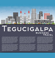 tegucigalpa skyline with gray buildings blue sky vector image vector image