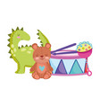 toys object for small kids to play cartoon vector image vector image