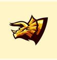 triceratops logo design vector image