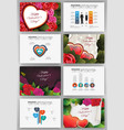 valentines day backgrounds set vector image vector image