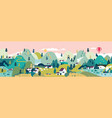 village small town rural and urban landscape vector image