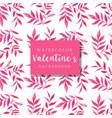 watercolor valentine background vector image
