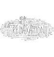 why relax text word cloud concept vector image vector image
