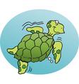 Cartoon Sea Turtle vector image