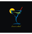 Cocktails icon vector image