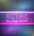 Retro Vintage 1980 Bright Neon Color Background vector image