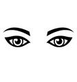 Woman eyes vector image