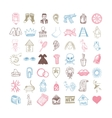 49 hand drawing doodle different icon set vector image