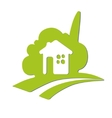 Abstract symbol of the house Eco house vector image