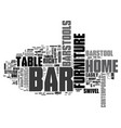 bar furniture for your home text word cloud vector image vector image