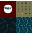 barber shop or hairdresser background set