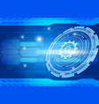 blue abstract background digital technology vector image vector image