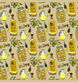 bright olives seamless pattern olives branch oil vector image