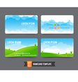 Business Card template set 003 vector image vector image