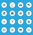 business colorful icons set collection of vector image vector image