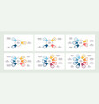 business infographic organization chart with 3 4 vector image