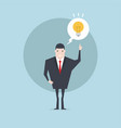 businessman with light bulb get the idea vector image