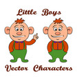 cartoon little baby vector image vector image
