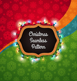 christmas seamless pattern with chalkboard vector image