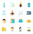 Clothes designer icon flat vector image