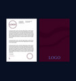 colorful business style letterhead templates vector image