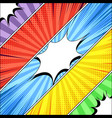 comic book diagonal banners vector image vector image