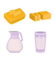 design food and dairy symbol collection vector image