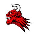 devil satan head mascot vector image vector image