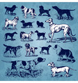 dogs vintage set vector image vector image