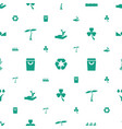 eco icons pattern seamless white background vector image vector image