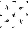 egyptian cat pattern seamless black vector image vector image