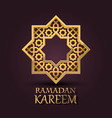 eight-pointed star ramadan kareem cover vector image vector image