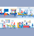 family healthcare hospital visitors and doctors vector image