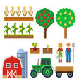 farm harvesting equipment for agriculture vector image vector image