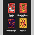 fiesta icon logo set vector image