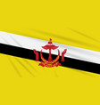 flag brunei swaying in the wind realistic vector image