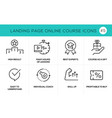 flat line design concept icons online e-learning vector image vector image