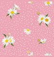 floral seamless pattern with blossom daisy flowers vector image vector image