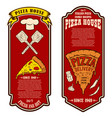 flyer pizzeria design elements for logo label vector image