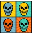 Four with skulls on pop art background vector image vector image