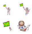 girl spaceman sale flag avatar icon vector image vector image