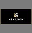 gp hexagon logo design inspiration vector image vector image